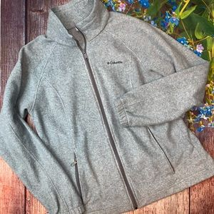 Columbia Women's Full Zip Gray Fleece Jacket Large